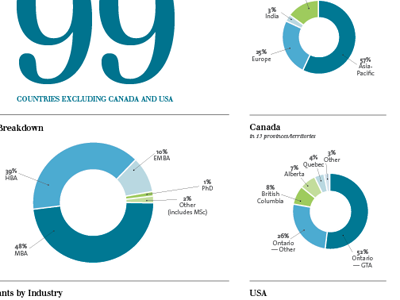Program stats graphs infographics annual report typography