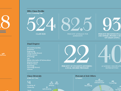 More Program stats! infographics graphs annual report typography