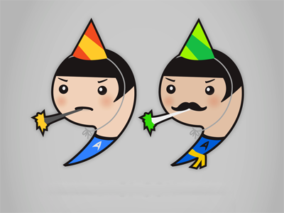 Spock & Mirrorverse-Spock end quotes mustache illustration punctuation creations spock star trek party quotation marks