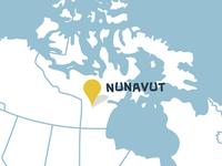 Nunavut map (detail of CMA infographic)