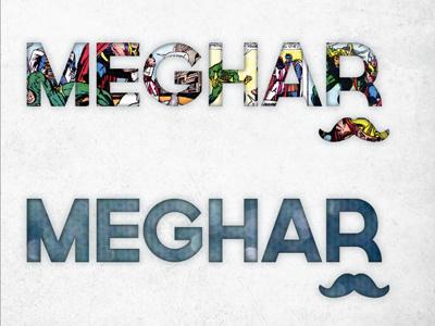 Personal Branding Explorations comics branding mustache typography