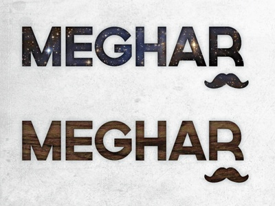 Personal Branding Explorations pt.2 typography texture branding mustache space wood