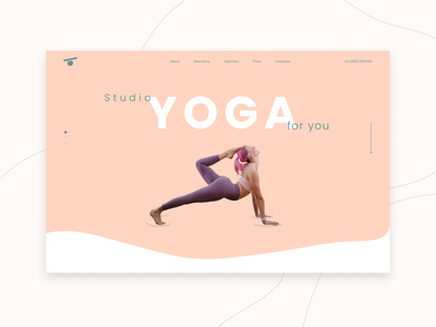 Yoga for you | Landing page yoga minimalism landing page website ux ui design