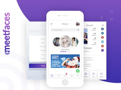 Meetfaces - mobile app redesign user experience user interface ux ui design redesign mobile app development mobile application mobile design mobile app design mobile app