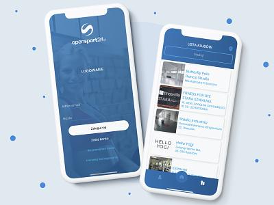 Opensport24 - mobile app design user experience ux user interface ui mobile design mobile application mobile app development design mobile app design mobile app