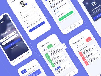 Attende - mobile app design user experience ux user interface ui mobile design mobile application mobile app development mobile app design mobile app design