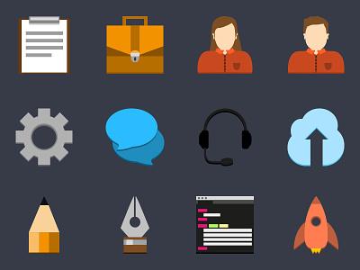 Flat Icon Set v2 flat icons illustrator ecommerce workflow web design