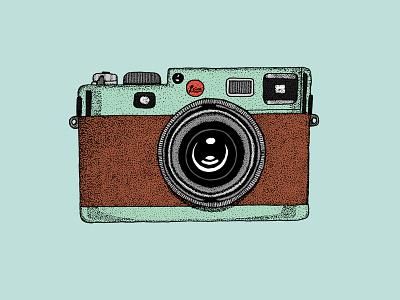 Camera camera illustration ink