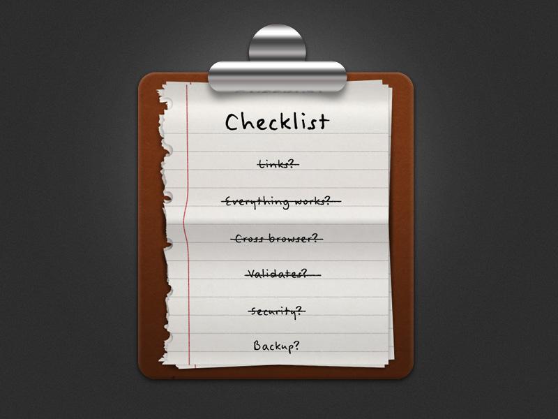 Checklist checklist icon photoshop not flat