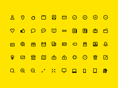 Line Icon Set (WIP) icons icon set line dashboard ecommerce devices wip