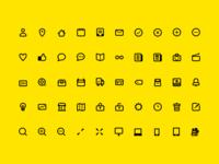 Line Icon Set (WIP)