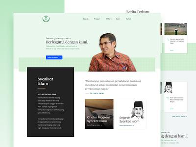 Syarikat Islam - Website Redesign organization islam islamic webssite ui landingpage redesign website syarikat islam