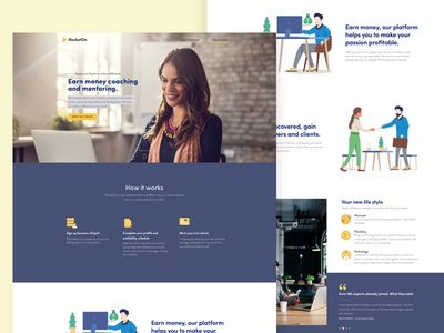 Landing Page for Coaching and Mentoring Platform (Coach Side)