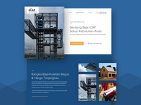 Steel Contractor Company Website