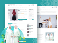 Ranti — Muslim eCommerce website Product Detail & About Us Page