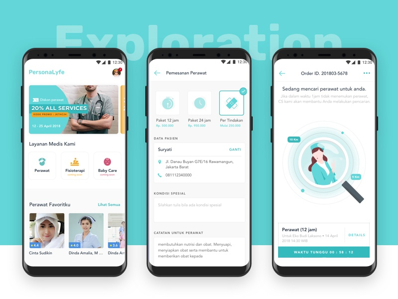 PersonaLyfe - Booking Personal Healthcare Apps by Aji