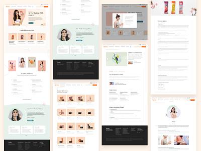 Wellness & Skincare Landingpage - Glutera beauty skincare wellness illustration ui ux website landingpage