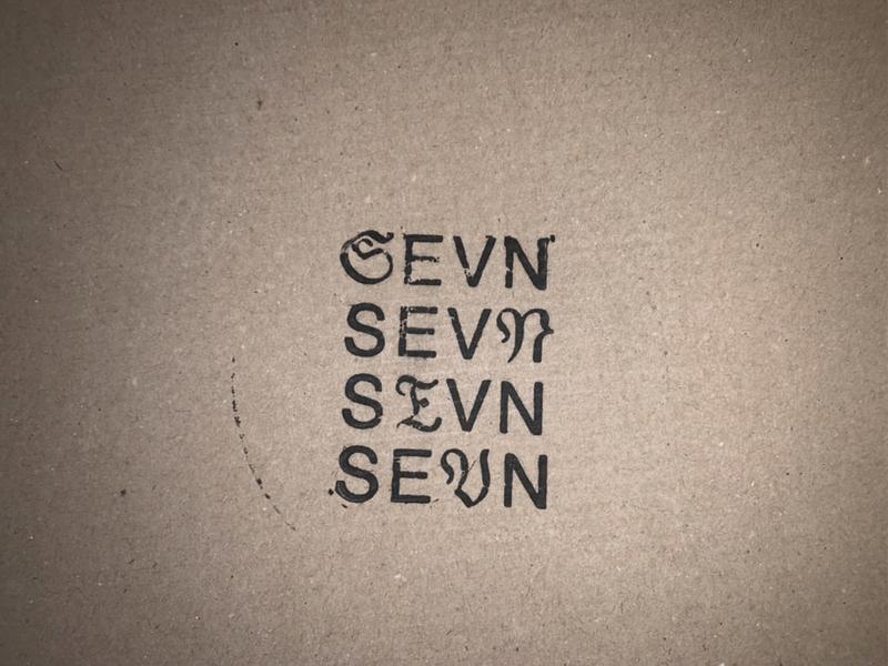 SEVN_STAMP clothing store logodesign logotype logo fashion brand identity brand design typography branding typeface design type