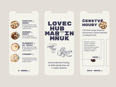 MUSHROOM HUNTER 🍄 layout mushrooms typography product detail mobile design appdesign app webdesign product design ux uiux eshop ui