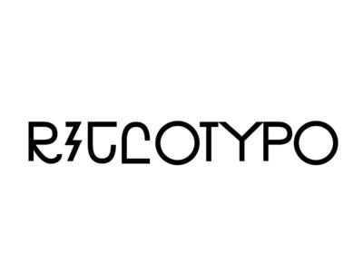 RICCOTYPO_34 font letter sign black typeface mark logotype lettering glyph design type typography