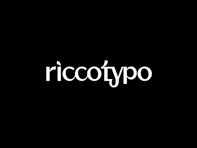 RICCOTYPO_38 custom typedesign logo typeface black letter sign logotype font lettering glyph type design typo typography