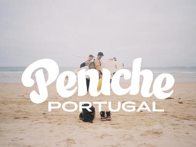 PENICHE PORTUGAL logo custom black mark design letter sign font glyph type logotype lettering typeface typography