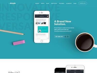 TheSimple - WP Theme - App Template creative wordpress app business responsive 30 demos