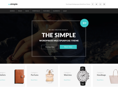 TheSimple - WP Theme - Shop Template