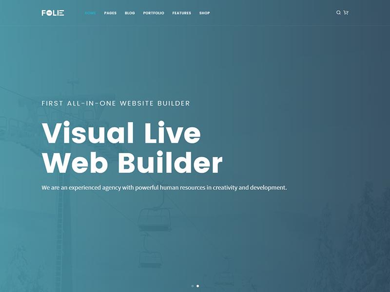 Visual Live Web Builder web builder website wordpress theme wordpress