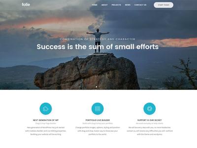 Folie - The WordPress Website Builder