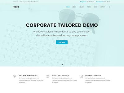Corporate ui web design wordpress theme themeforest themes wordpress