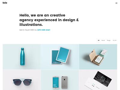 Portfolio - Folie - The WordPress Website Builder customizable small business personal theme wordpress portfolio freelance