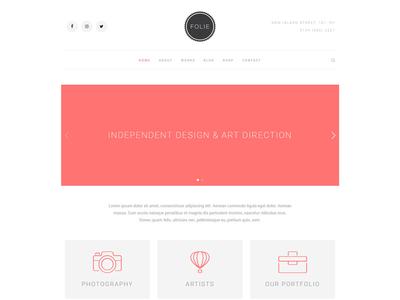 Creative Minimal - Folie - The WordPress Website Builder