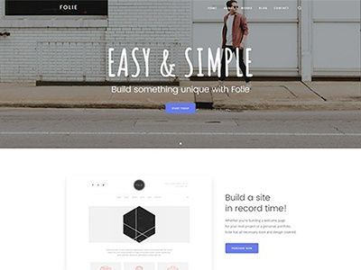 Landing Classic - Demo Created with Folie WordPress Theme web design wordpress theme theme wordpress