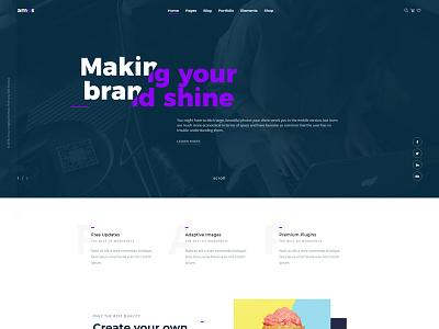 Amos - Creative WordPress Theme for Agencies & Freelancers wordpress one page parallax custom design website web design