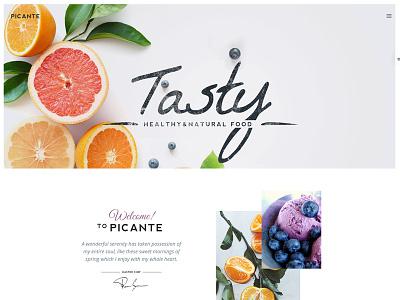 Picante - Restaurant & Food WordPress Theme website webdesign portfolio photography personal minimal gallery fullscreen creative clean blog restaurant