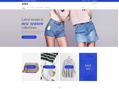 Amos Creative WordPress Theme for Agencies & Freelancers webdesign website fashion store woocommerce themes wordpress