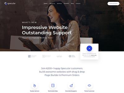 Modern Business & Startup Website WordPress Theme website ui minimal creative themes agency themeforest web design wordpress theme wordpress