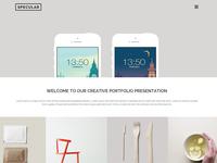 Specular - Portfolio with fullscreen menu