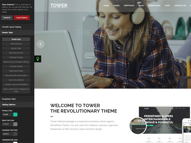 Tower | Responsive Business-Driven WordPress Theme ui web design wordpress theme themeforest themes wordpress