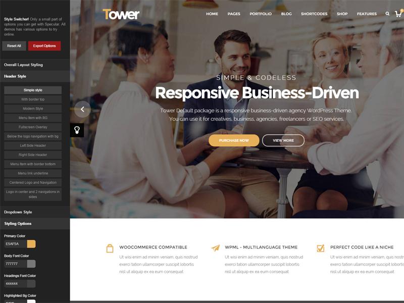 Tower - Responsive Business WordPress Theme ui web design wordpress theme themeforest themes wordpress