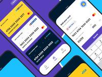Add your Card debit card credit card payment app cards concept branding gradients app uiux modern clean interface creative design