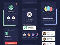 Dark Theme design trending ui modern design creative illustration uiux app design clean concept interface gradients typography mobile app design gaming app football app starbucks product design