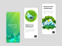 Onboarding App Screen mobile interface website app clean gradients branding typography illustration modern uiux ios app design pollution creative design