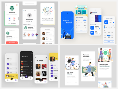 ⚡️ Top Four Shots of 2020 app uiux modern typography clean illustration interface 2020 design 2020 trends top 4 creative design