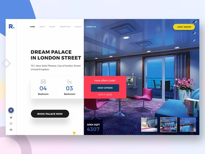 Dream Palace user ui website ios interface design creative color clean app