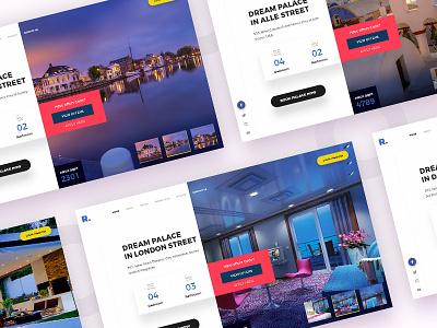 Dream Palace Cities website user ui ios interface design creative color clean app