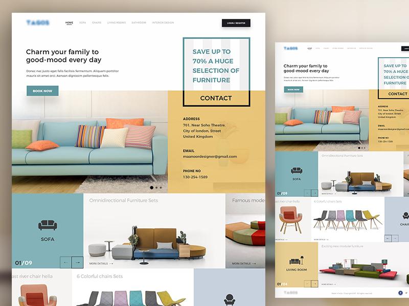 Furniture website by m s brar dribbble Home furniture online websites