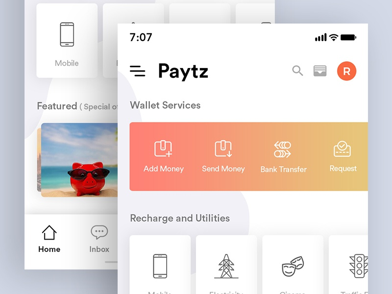 Current Project app featured wallet simple redesign paytm wallet paytm minimal design concept clean
