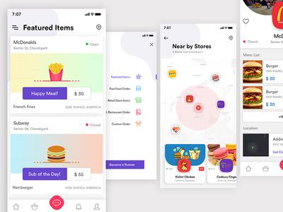 Food App redesign